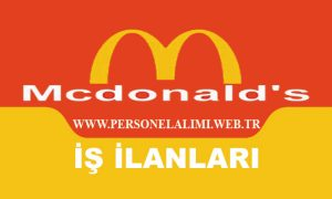 McDonalds Ekip Üyesi İş İlanları